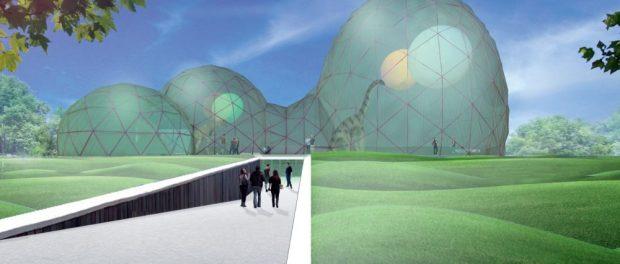 """Entwurf zum neuen Eingangsgebäude """"Mitoseum"""" Foto: BBB Rimpf Architektur"""