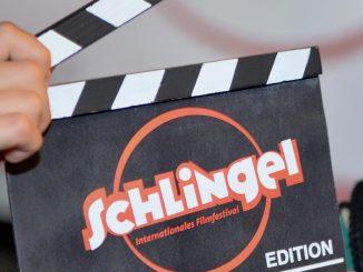 «Schlingel»-Filmklappe. Foto: Hendrik Schmidt/Archiv