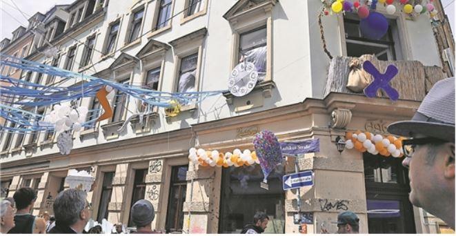 Die Bunte Republik Neustadt (BRN) macht sich ihr Wetter selbst. Foto: Una Giesecke