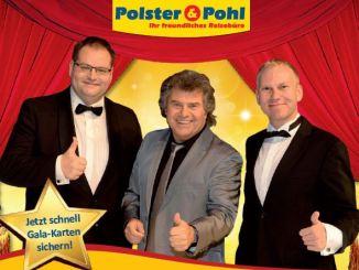 Daniel Polster und Christian Pohl mit Andy Borg, dem Moderator ihrer hochkarätigen Weihnachtsgala. Foto: PR