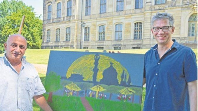 Aleko Adamia und Jörg Polenz organisieren den Palaissommer. Foto: Wolf