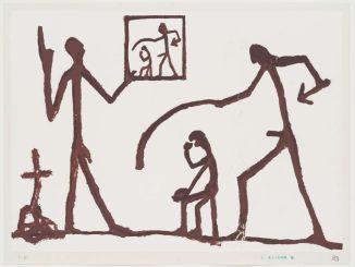 A.R. Penck, O.T. (nach einem Gemälde von 1961), 1975 © VG Bild-Kunst, Bonn 2017, Foto: Andreas Diesend