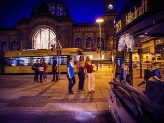 Die Nachtbusse am Dresdner Hauptbahnhof. (Foto: Lars Neumann)