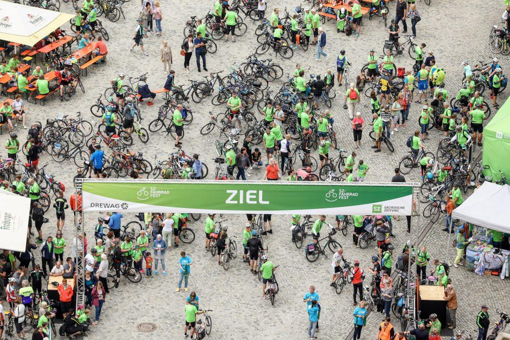 Der Zielbereich des SZ-Fahrradfests. (Foto: Michael Schmidt)