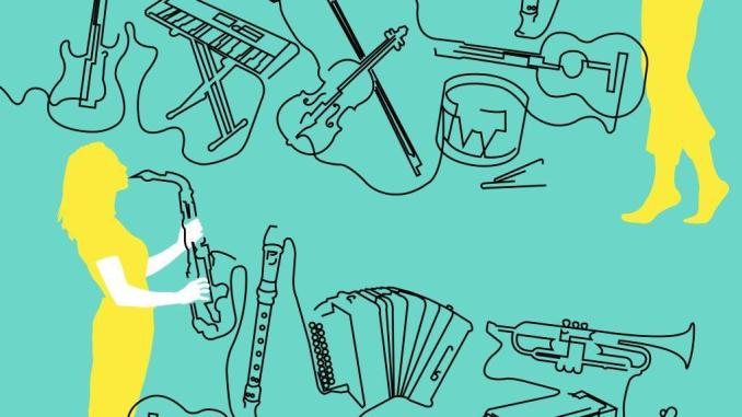 Fête de la Musique auf dem Neumarkt. Grafik: Lucie Pilate