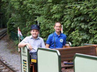 """Bereits im vergangenen Jahr waren die Parkeisenbahner aus Ungarn in Dresden zu Gast. Foto: Förderverein """"Dresdner Parkeisenbahn e.V."""""""