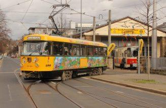 Lottchen, Dresdens Kinderstraßenbahn, geht vom Straßenbahnmuseum aus auf Rundfahrt. Foto: DVB AG