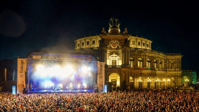 Musiker wie Glasperlenspiel, LEA, The Disco Boys, Rockhaus uvm. sorgten für eine ganz große Party in Dresden. (Foto: Michael Schmidt)