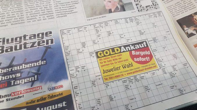 Rätseln: Jetzt nicht mehr nur in der gedruckten Zeitung, sondern auch online! Foto: Franziska Sommer