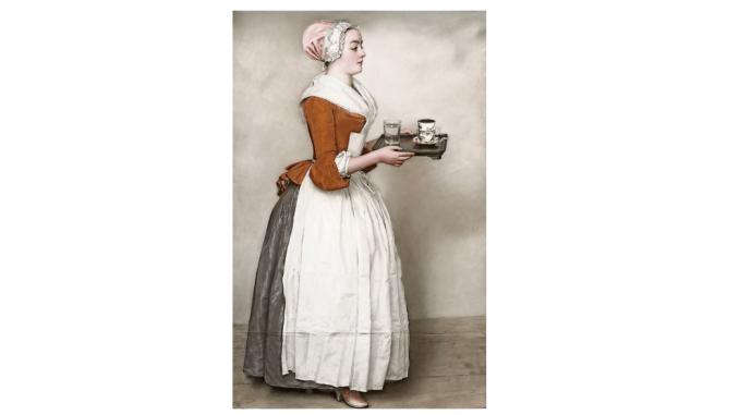 Liotard, Jean-Etienne: Das Schokoladenmädchen; um 1744-45, Pastell auf Pergament 82,5x52,5 cm SKD Gemäldegalerie Alte Meister Dresden, AM-P-161 Foto: Herbert Boswank