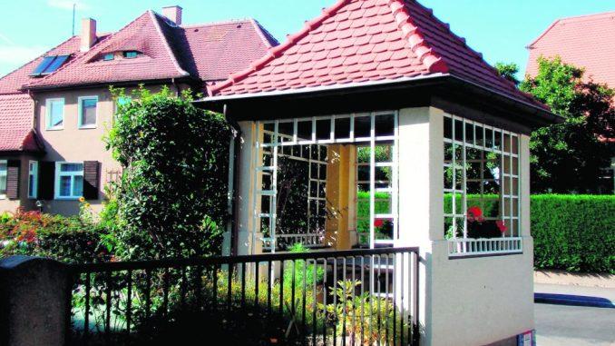 Typisch Gartenstadt: der Pavillon Ecke Hammeraue/Eigenhufe. Foto: Renate Gerner