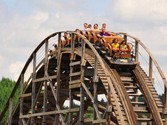 El Toro – die wilde Holzachterbahn hat es so richtig in sich. Foto: Freizeitpark Plohn