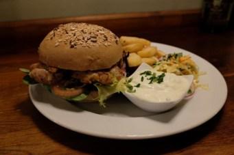 So sieht ein schmackhafter Burger im Paddy Foley's aus. (Foto: PR)