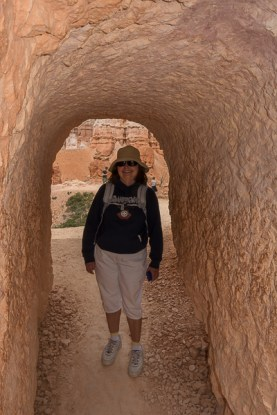 Terrie in the tunnel