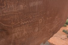 Petroglyphs just a short hike from our site