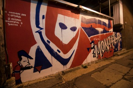 Graffiti celebrating the Canadiens' victory over their rivals the Boston Bruins on November 11, 2010. (Photo-Aidan Whiteley)