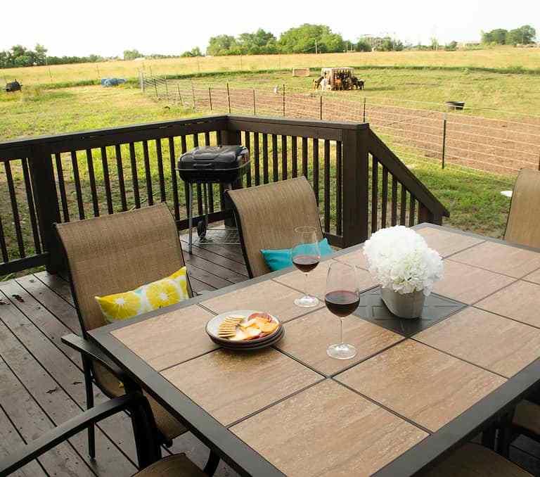 Dawson Retreats near Missouri star quilt co hotel villa deck