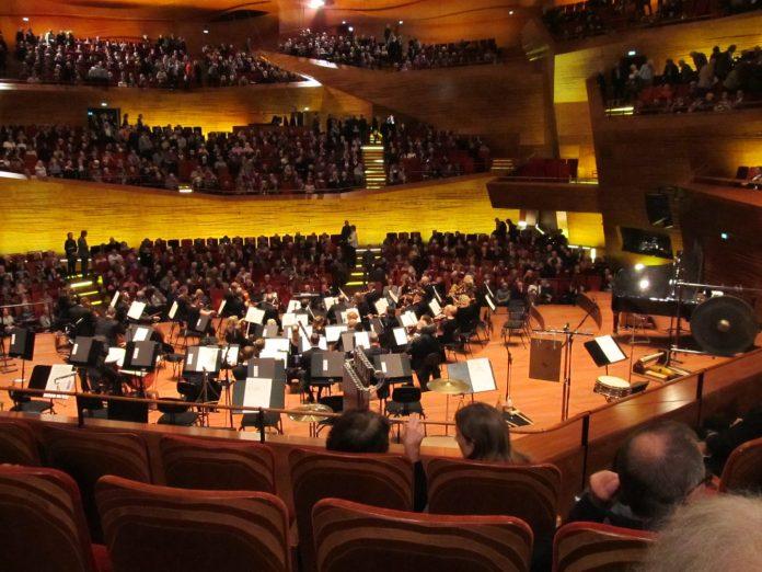 Orkesteret samlet til symfoni af Haydn