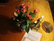 Farver skal der til, på hjemvejen købte jeg en buket roser