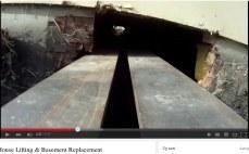 Man ser stålbjælken forsvinde ind i krybekælderen