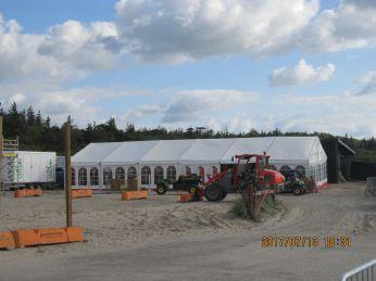 Der er rejst telte med grej lejet af Roskidel Festival