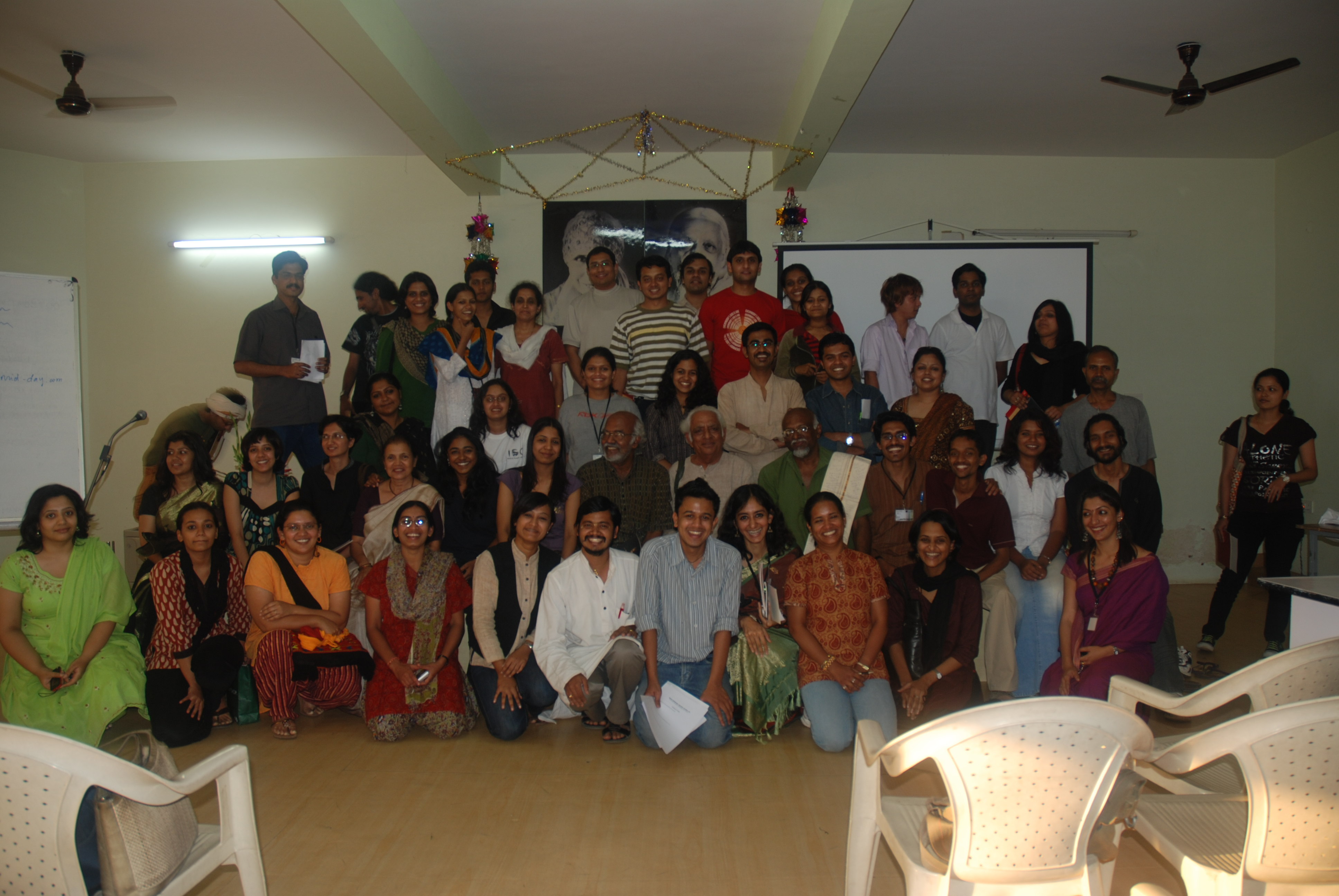 The enlightened lot with our guide and mentor Sadanand Menon
