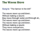 the waves go up and down