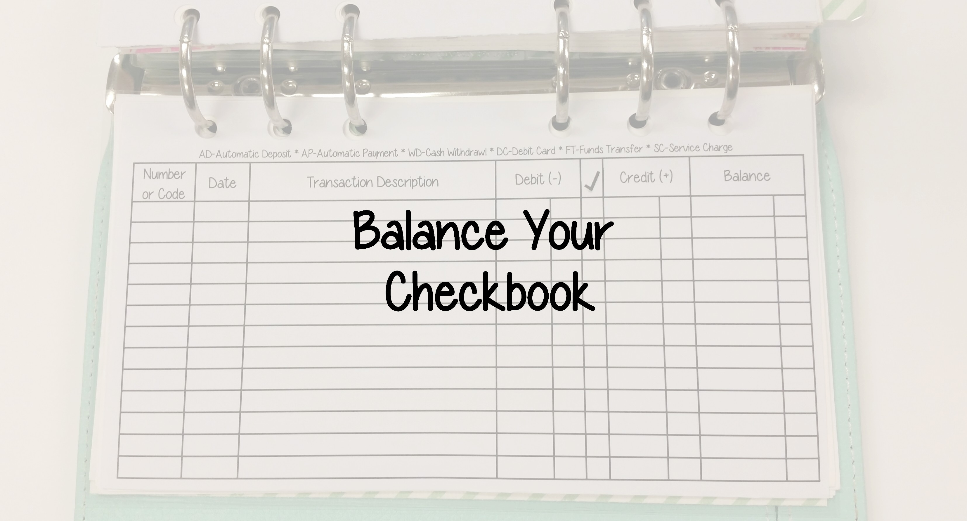 Financial Tip Friday Balance Your Checkbook Daycreates
