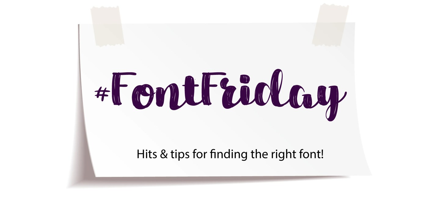 Font Friday hashtag banner