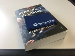 Democracy in Chains book and rail pass.