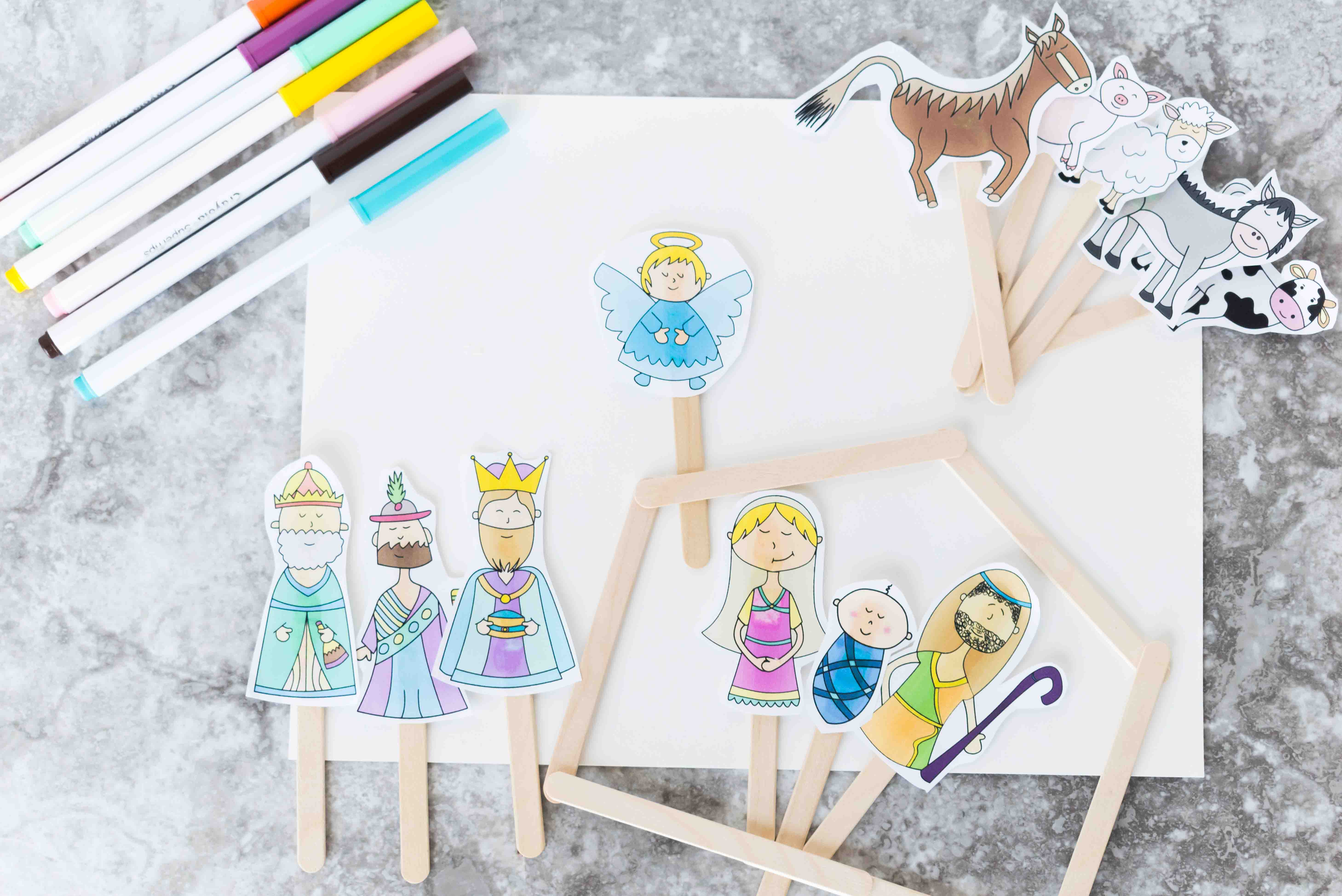 Christmas Story Stick Puppets Free Printable Daydream