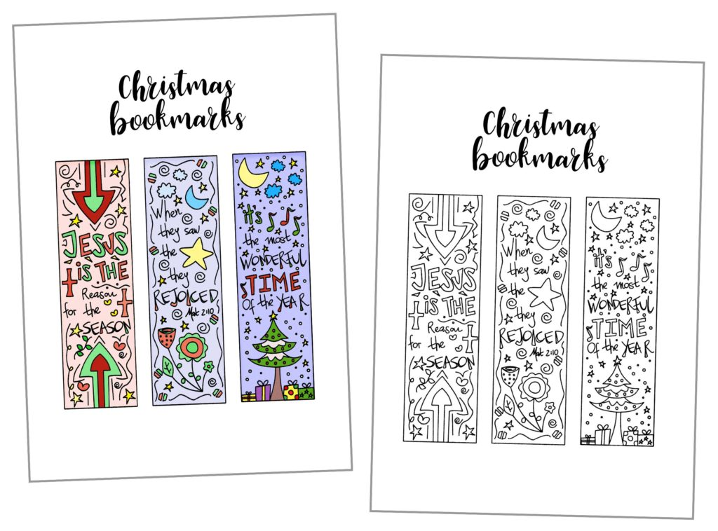 Coloring Christmas Bookmarks Free Printable Daydream