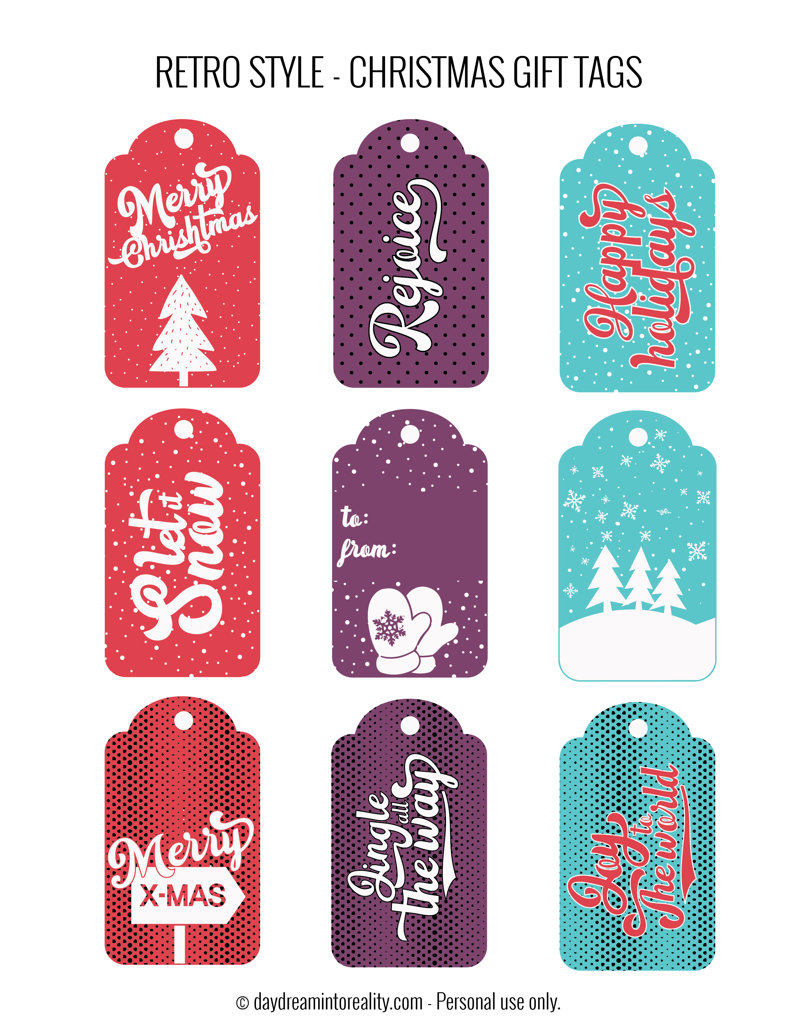 50 Free Printable Christmas T Tags Also Blank Templates