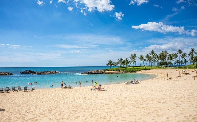 lagoon at ko'olina perfect scenic beach for families and children Oahu Hawaii