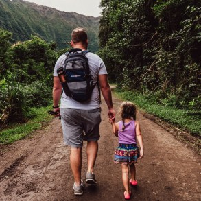 family hike hamama falls trail oahu hawaii, kids in nature, unschooling, world schooling