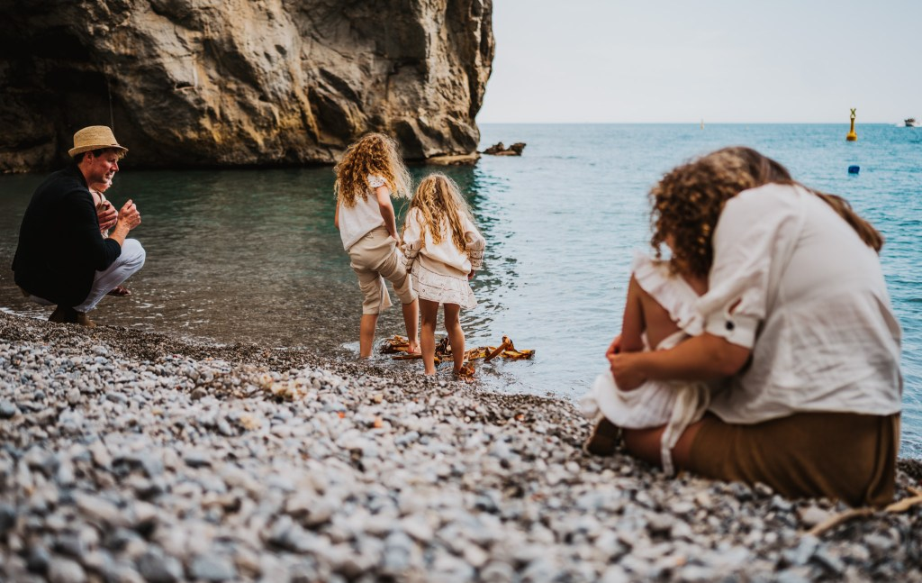 adventure family photography at beach