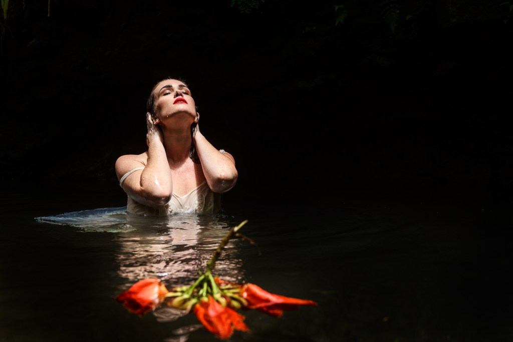 fine art portrait photography woman in water
