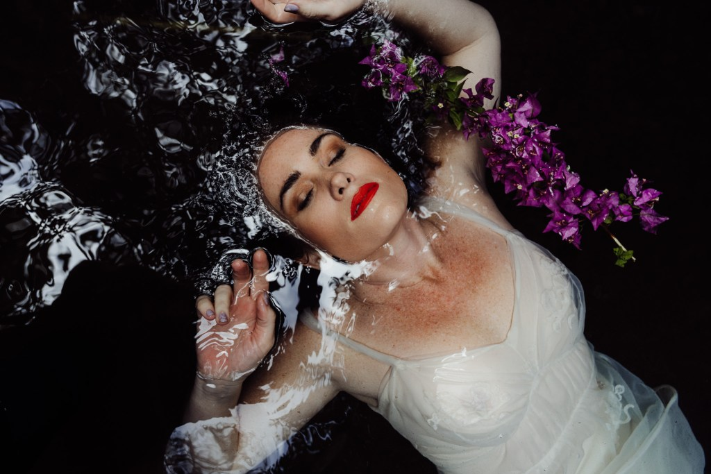 fine art portrait of woman in water