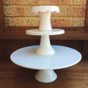 Cream Cake Stands. Small to Large $5 - $10 - $15