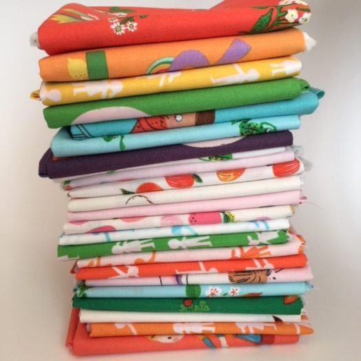 The whole line of Kinder Fabric at Daydreams of Quilts shop.