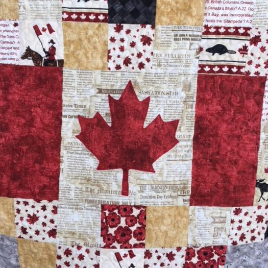 Canadian flag in a quilt