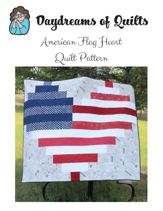 American Flag Heart Quilt Pattern