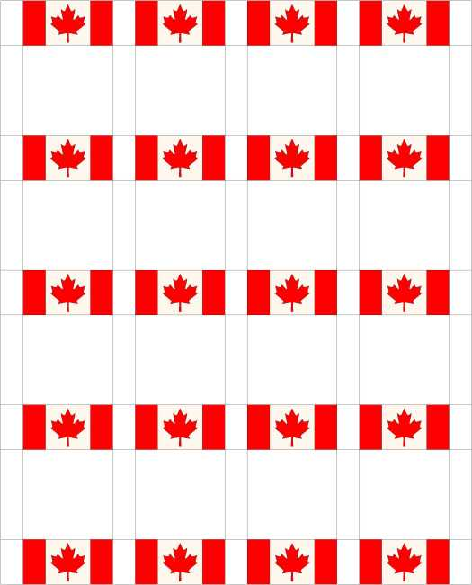 Canadian Flag Quilt Sashing