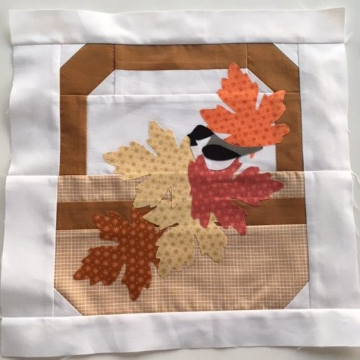 Canadian Summer Quilt Along Fall Basket Block