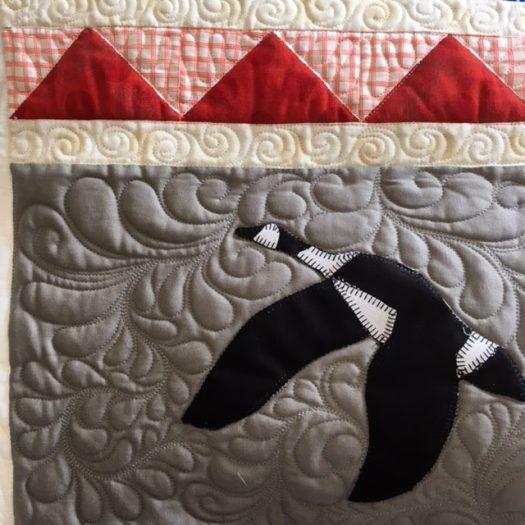 Canada Goose Quilt block
