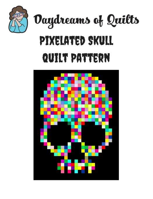 Free Pixelated Skull Quilt Pattern