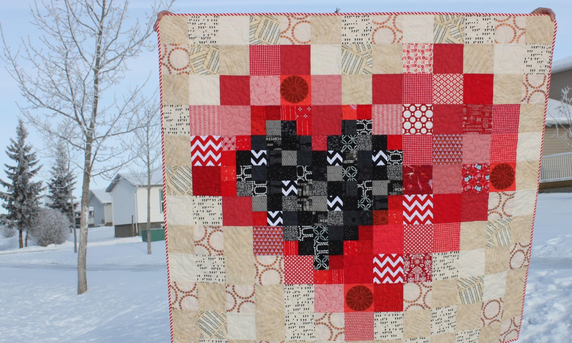 Pixel Heart Quilt