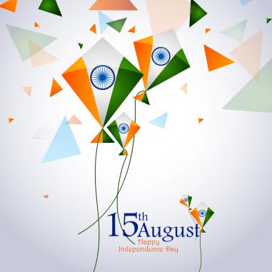 Ashoka Chakra on Happy Independence Day of India background