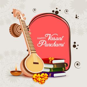 Banner For Happy Vasant Panchami celebration