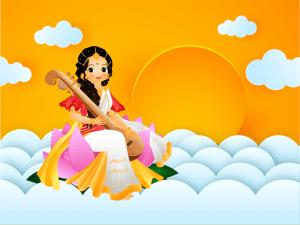 Vasant Panchami celebration poster or banner